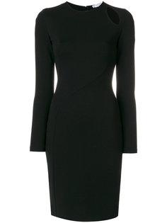 платье с вырезными деталями Versace Collection