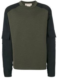 свитер в стиле милитари Marni