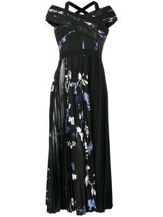 плиссированное платье с принтом Proenza Schouler