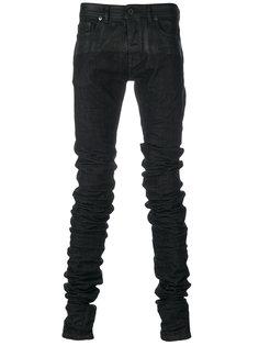 присборенные джинсы скинни Diesel