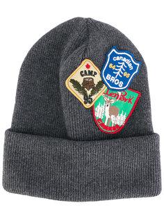 шапка-бини с нашивками Dsquared2