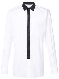 рубашка с контрастным воротником Alexander McQueen