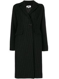 пальто в тонкую полоску Mm6 Maison Margiela