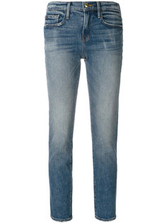 узкие укороченные джинсы Frame Denim