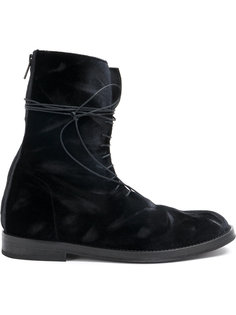 бархатные ботинки на шнуровке Ann Demeulemeester