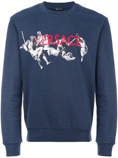 painted sweatshirt  Versace