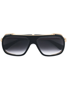 gold trim oversized sunglasses Dita Eyewear