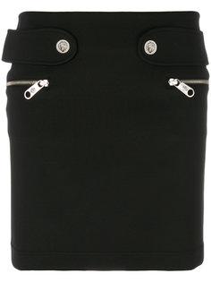 юбка мини с карманами на молнии  Versus