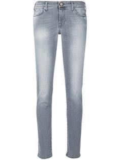 облегающие джинсы с выбеленным эффектом 7 For All Mankind