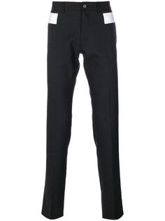 брюки-чинос с контрастными вставками Givenchy