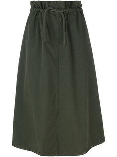 юбка миди со шнурком на талии  Mm6 Maison Margiela
