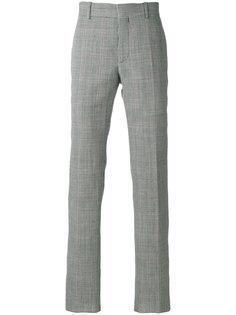 прямые брюки с узором в ломаную клетку Alexander McQueen