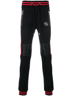спортивные брюки с ребристыми деталями Philipp Plein