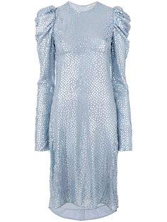 переливающееся платье с длинными рукавами Nina Ricci