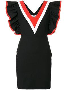 платье с отделкой из рюшей MSGM