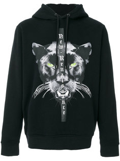 panther printed hoodie Marcelo Burlon County Of Milan