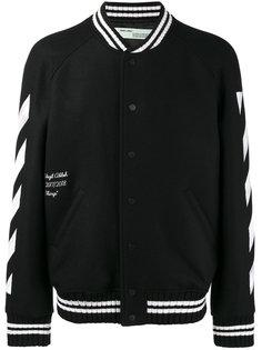 куртка-бомбер с принтом в виде мазков Off-White