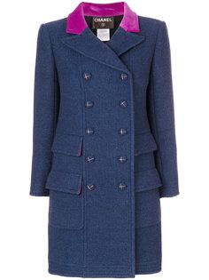 двубортное пальто  Chanel Vintage