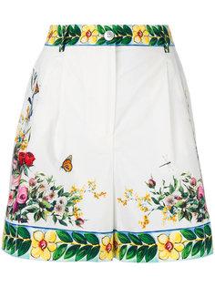 шорты с принтом Majolica Dolce & Gabbana
