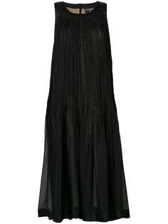 плиссированное платье без рукавов  Chanel Vintage
