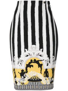 юбка с узором в барочном стиле Versace Collection