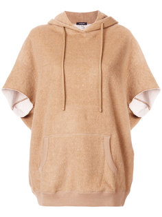 fur trim hooded top  R13