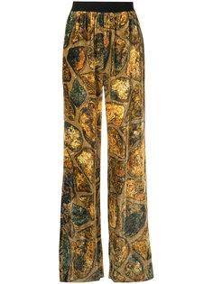 брюки с принтом Maison Margiela