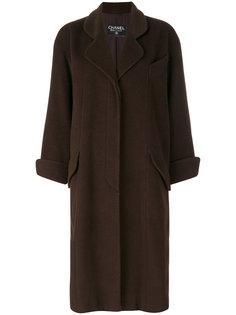 расклешенное длинное пальто Chanel Vintage