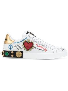 кроссовки с заплатками Dolce & Gabbana