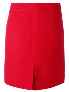 юбка с разрезом спереди Courrèges