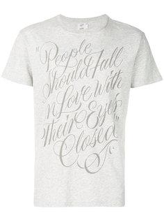 футболка с принтом love Closed