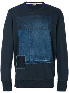 denim patch sweatshirt Diesel