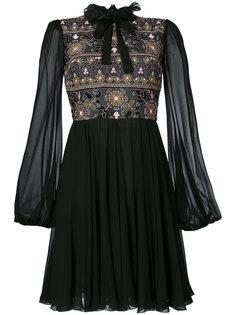 панельное платье с цветочной вышивкой Giambattista Valli