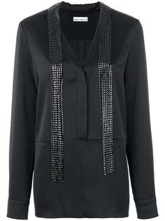 удлиненная декорированная блузка Paco Rabanne