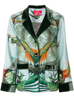 forest and bird print blazer F.R.S For Restless Sleepers