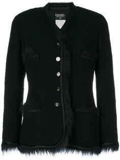 куртка с подкладкой из искусственного меха  Chanel Vintage