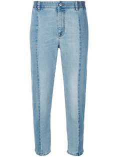 укороченные джинсы с панельным дизайном Stella McCartney