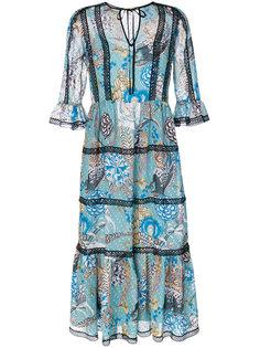 прозрачное платье с рисунком Temperley London