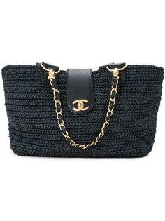 сумка-тоут с цепочкой CC Chanel Vintage