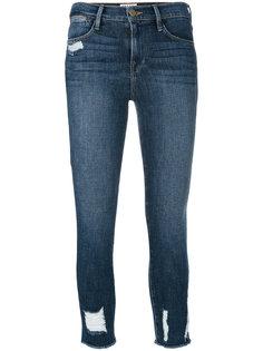 укороченные джинсы с эффектом поношенности Frame Denim