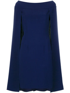 расклешенное платье-кейп  Alberta Ferretti