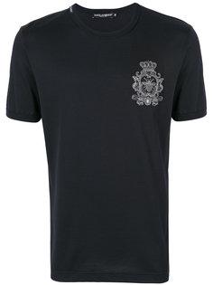 футболка с короной и пчелой Dolce & Gabbana