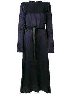 платье шифт с эффектом металлик  Maison Margiela