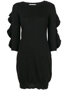платье с оборками на рукавах Blugirl