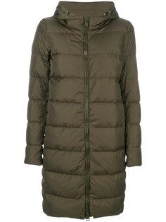 пуховое пальто с капюшоном Herno