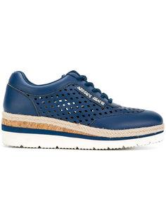 кроссовки на платформе с вырезными деталями Armani Jeans