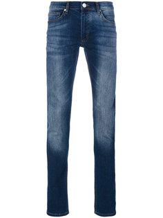 состаренные джинсы слим  Versace Jeans