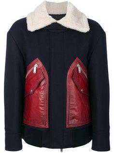 пальто с контрастными вставками Dsquared2