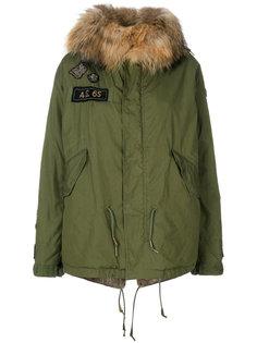 rabbit fur hooded jacket As65
