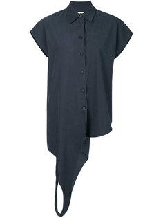 рубашка на пуговицах без рукавов с петлей Mm6 Maison Margiela